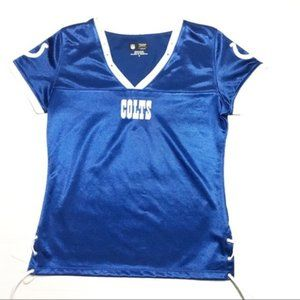 Colts Women's Blue silky Jersey Tie String Sides